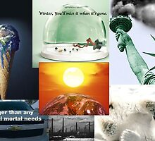 Global Warming Advertisement Collage by CallalilyColors