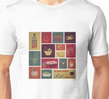 vintage food collage old style Unisex T-Shirt