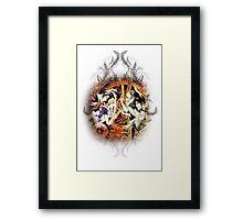 Kuroshitsuji (Black Butler) - Ciel, Sebastian, Claude and Alois [in Wonderland] Framed Print