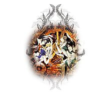 Kuroshitsuji (Black Butler) - Ciel, Sebastian, Claude and Alois [in Wonderland] Photographic Print
