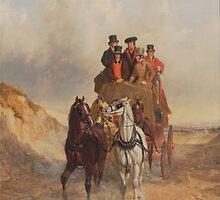 The Royal Mail Coach on the Road - John Herring by BravuraMedia