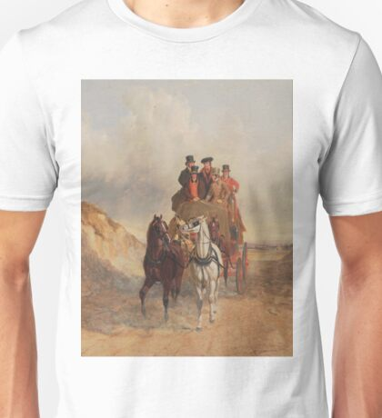 The Royal Mail Coach on the Road - John Herring Unisex T-Shirt
