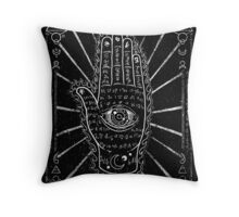 Hamsa Hand, Hand with Eye Throw Pillow