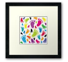 Color footprints Framed Print
