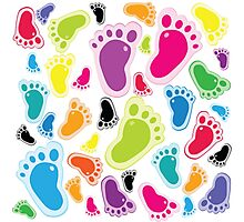 Color footprints Photographic Print
