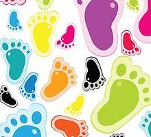 Color footprints by Vitalia