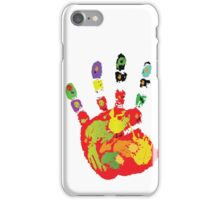 Color footprint and handprint iPhone Case/Skin