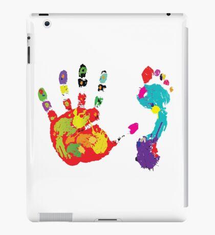 Color footprint and handprint iPad Case/Skin