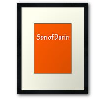 Sons of Durin - White Framed Print
