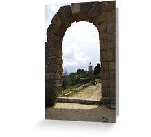 Roman Archway Santuario di Tindari, Sicily Greeting Card