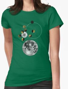 Phases of the Moon Womens Fitted T-Shirt
