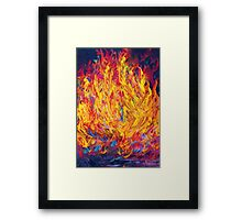 Fire and Passion - Here's to New Beginnings Framed Print