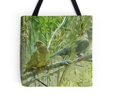 Mourning Doves at Sunrise Abstract Impressionism Tote Bag