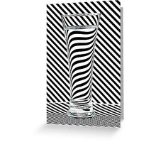 Striped Water Greeting Card