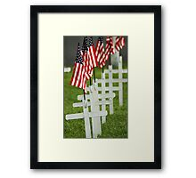 Memorial Day - Remember the Fallen Framed Print
