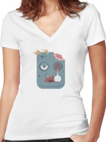 Zombuddie! Women's Fitted V-Neck T-Shirt
