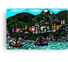 Sailboat View Canvas Print