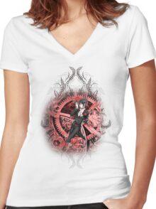Kuroshitsuji (Black Butler) - Sebastian Michaelis Women's Fitted V-Neck T-Shirt