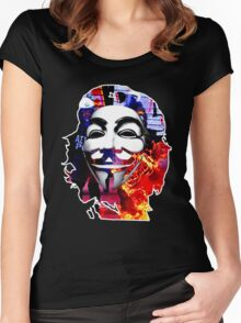 Anonymous Che Guevarra Women's Fitted Scoop T-Shirt
