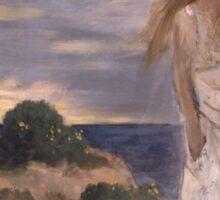 Woman on the Beach - Pierre Puvis de Chavannes Sticker
