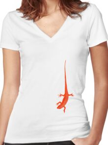 Skink Women's Fitted V-Neck T-Shirt