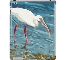 White Ibus at Shoreline Abstract Impressionism iPad Case/Skin