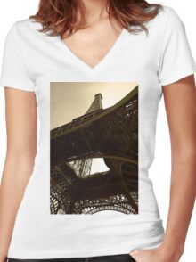 Iron tower Women's Fitted V-Neck T-Shirt