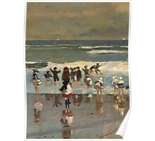 Beach Scene - Winslow Homer Poster
