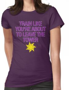 Tangled Tower Work Out Womens Fitted T-Shirt
