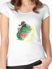 Snake & Miller on a... mountain dew. Women's Fitted Scoop T-Shirt
