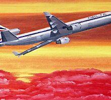 Delta Air Lines MD-11 circa 1994 by Hernan W. Anibarro