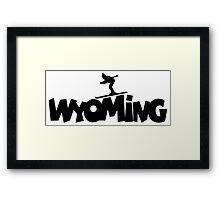 Wyoming Ski Framed Print