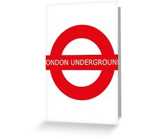 london underground sign Greeting Card