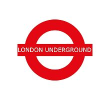 london underground sign Photographic Print
