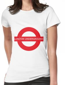london underground sign Womens Fitted T-Shirt