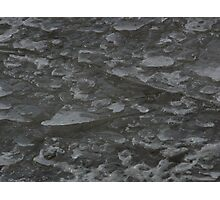 Ice broken by water Photographic Print
