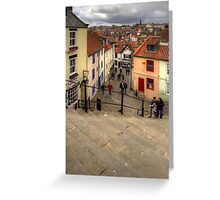 View from the Whitby Steps Greeting Card