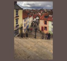 View from the Whitby Steps Baby Tee