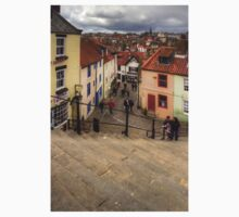 View from the Whitby Steps Kids Tee