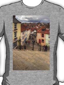 View from the Whitby Steps T-Shirt
