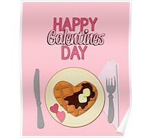 happy galentines day Poster