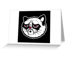 Black and white cat with the hump  Greeting Card