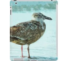 Herring Gull on the Beach Abstract Impressionism iPad Case/Skin