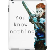 Game of Thrones- Ygritte, You know nothing iPad Case/Skin