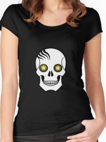 Starry eyed Skull Women's Fitted Scoop T-Shirt