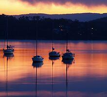 Boats at dusk by Wanagi Zable-Andrews