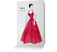 Vogue 1950s Greeting Card