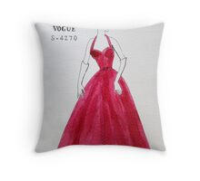 Vogue 1950s Throw Pillow