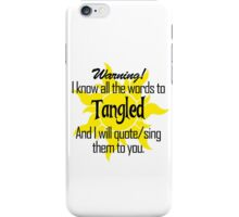All the Words to Tangled (Light) iPhone Case/Skin
