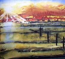 Mud Flats watercolor painting by Coolart by coolart